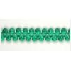 Glass Bead Droplet 4/6mm - Strung  Emerald